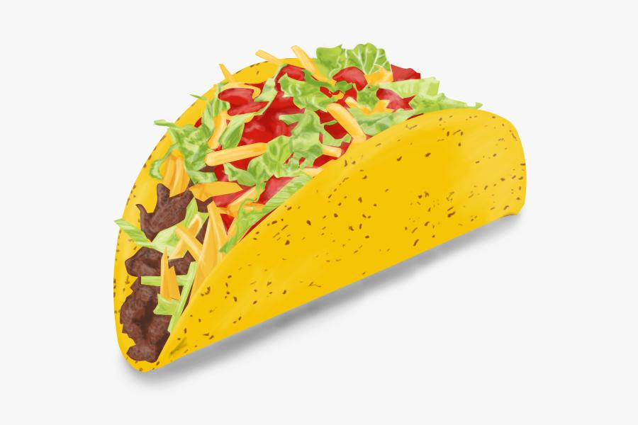 Transparent Taco Emoji Png - Transparent Background Taco Clip Art, Transparent Clipart