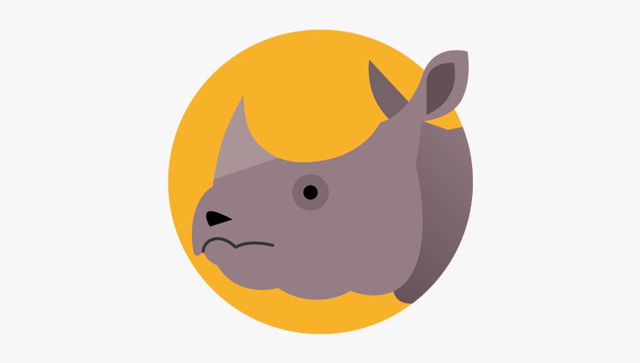 Rhino - Animal San Diego Zoo Icons, Transparent Clipart
