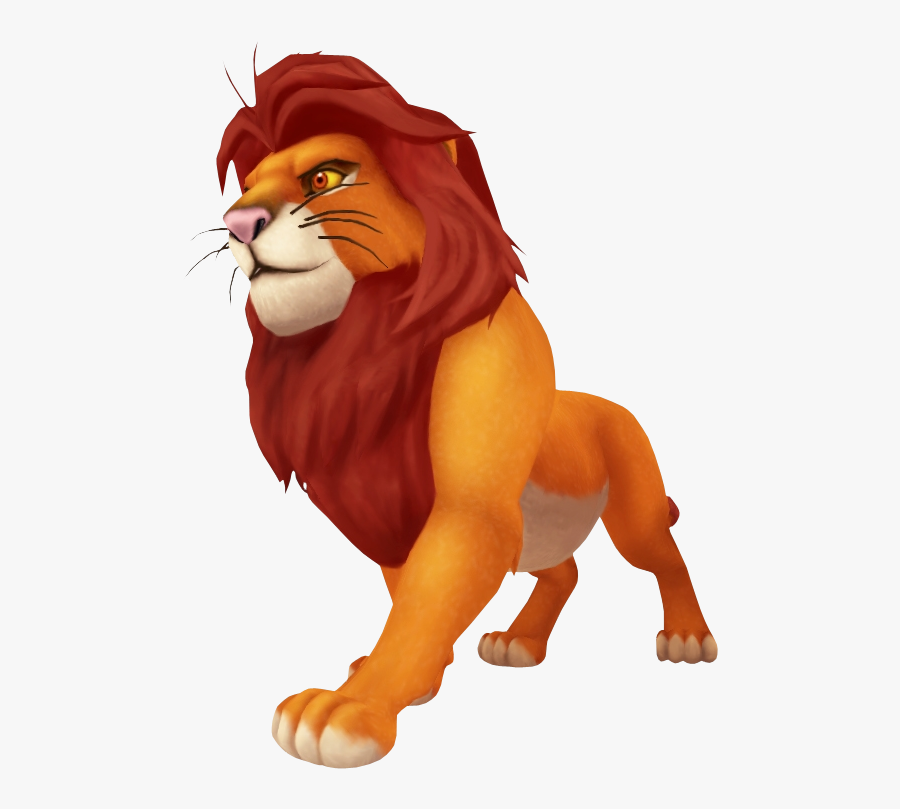 Lions Clipart Zoo Animal - Kingdom Hearts Simba Png, Transparent Clipart