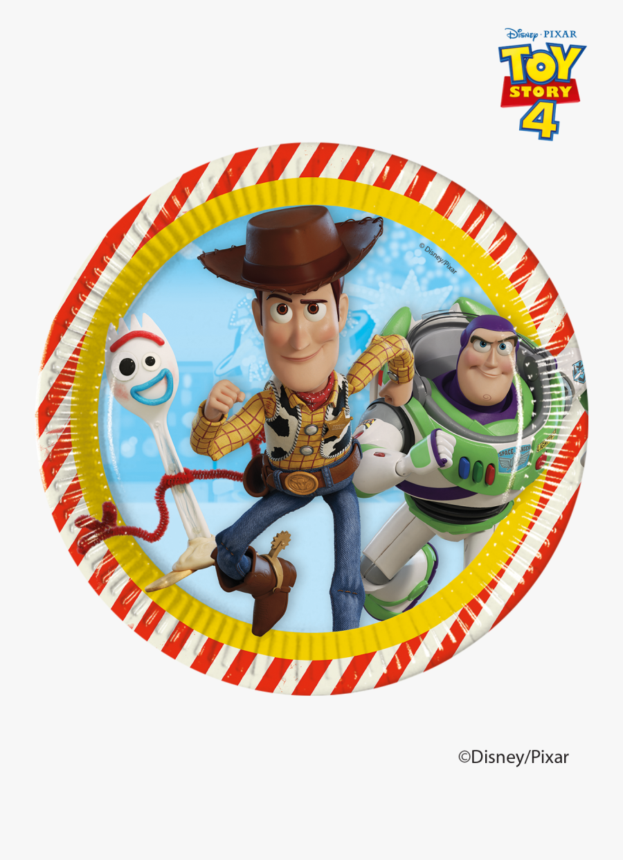 Toy Story 4 Plates - Plato Toy Story 4, Transparent Clipart