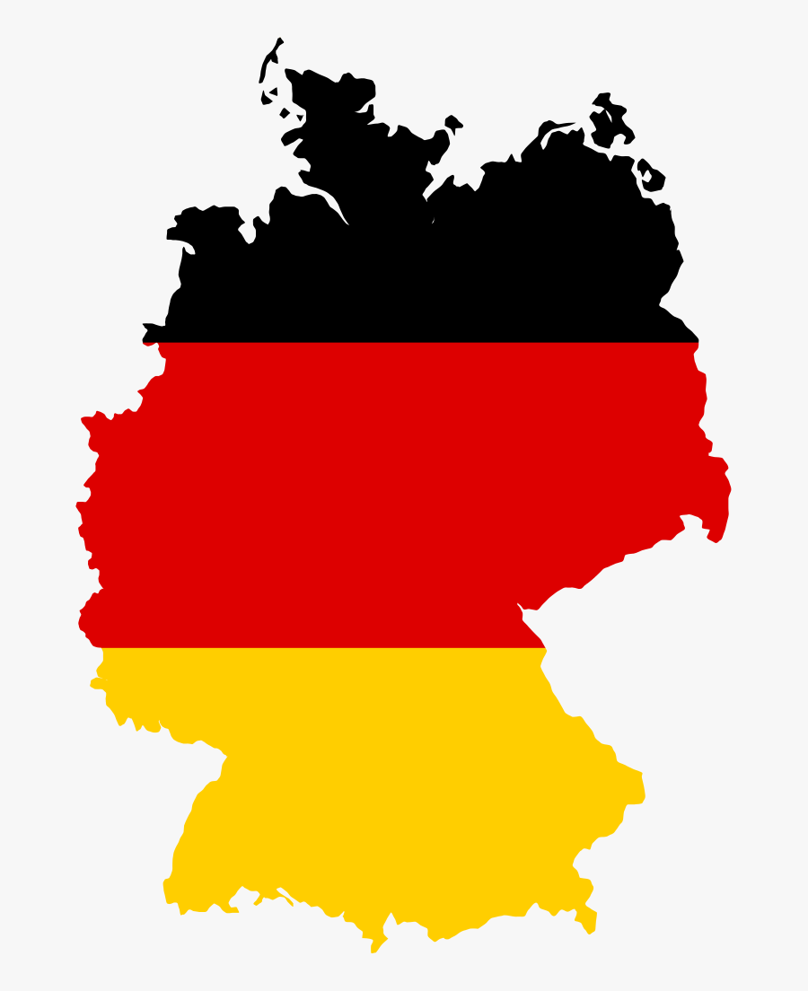Fileflag Map Of Germanysvg Wikimedia Commons - Germany Outline With Flag, Transparent Clipart