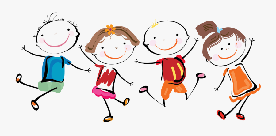 Happy Kids Playing, Transparent Clipart