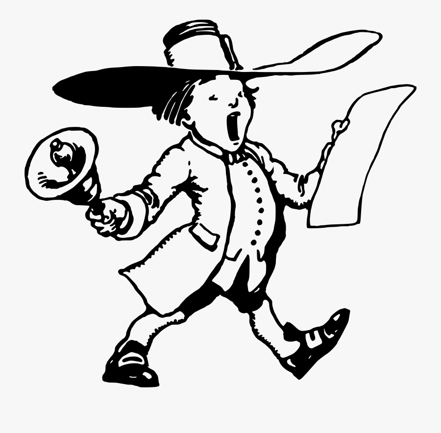 Cliparts For Free Download Town Clipart Drawing And - Town Crier Easy Drawing, Transparent Clipart
