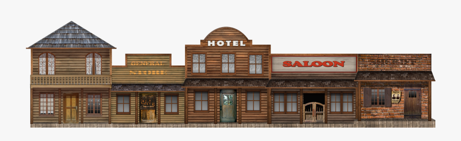 Transparent Town Clipart - Wild West Town Png, Transparent Clipart