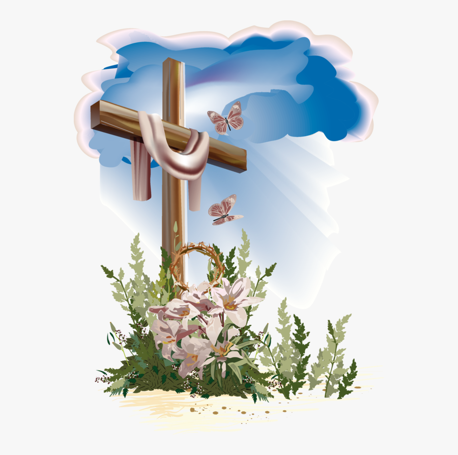 25 Christian Cross Landscape Flowers Pictures And Ideas - Holy Cross And Flowers, Transparent Clipart