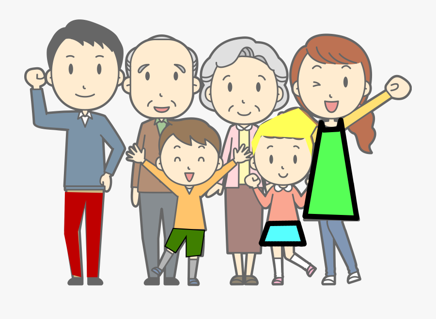 Familie 2a Clipart - Cartoon Transparent Family Png, Transparent Clipart
