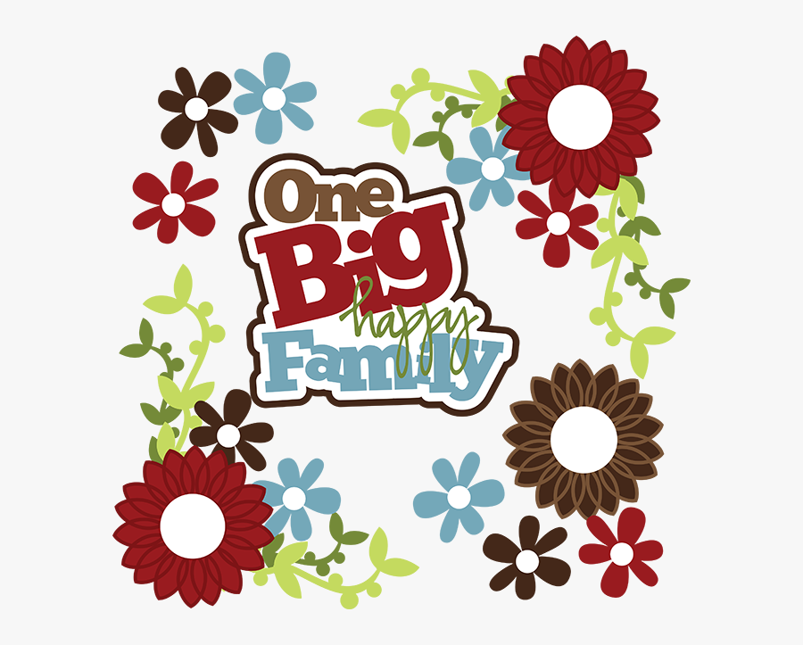 1 Big Happy Family, Transparent Clipart