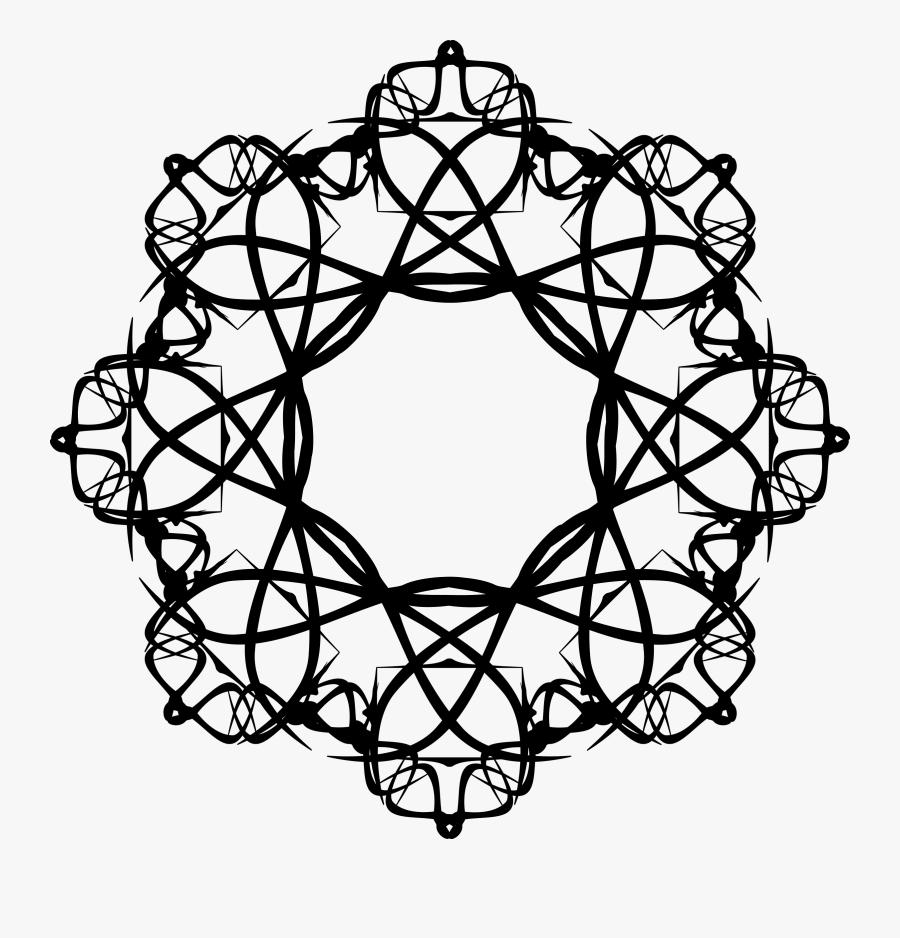 Black - Rose - Clip - Art - Islamic Art Pattern Islam Png, Transparent Clipart