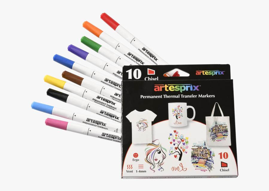 Clip Art Artesprix Esprix Impressions Transfer - Heat Transfer Markers, Transparent Clipart