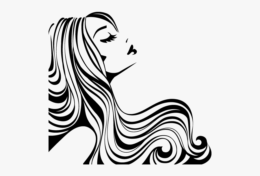 Cosmetology Drawing Black And White Transparent Png - Silueta De Rostro De Mujer, Transparent Clipart