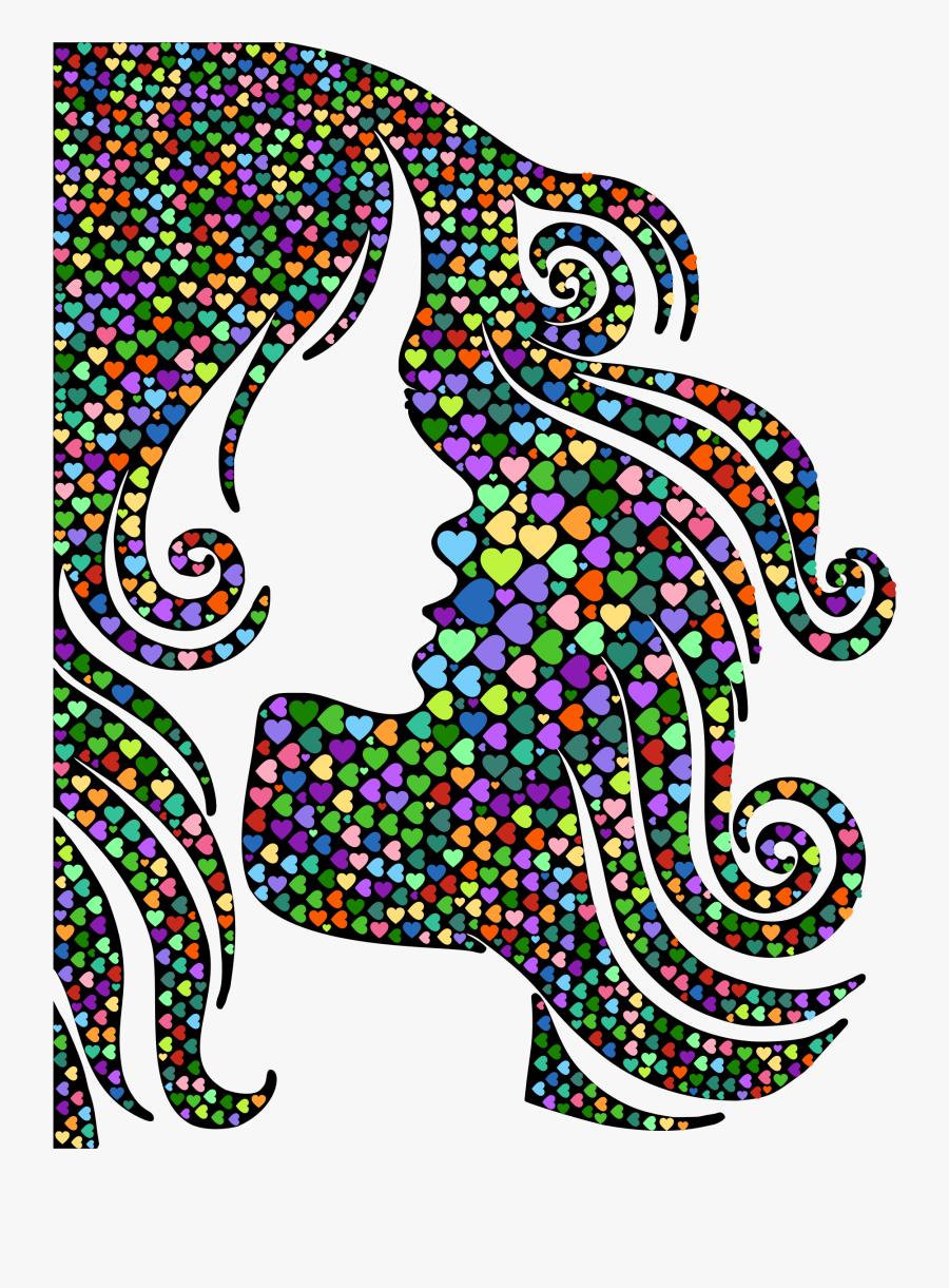Visual Arts,art,symmetry - Beauty Hair Silhouette Png, Transparent Clipart