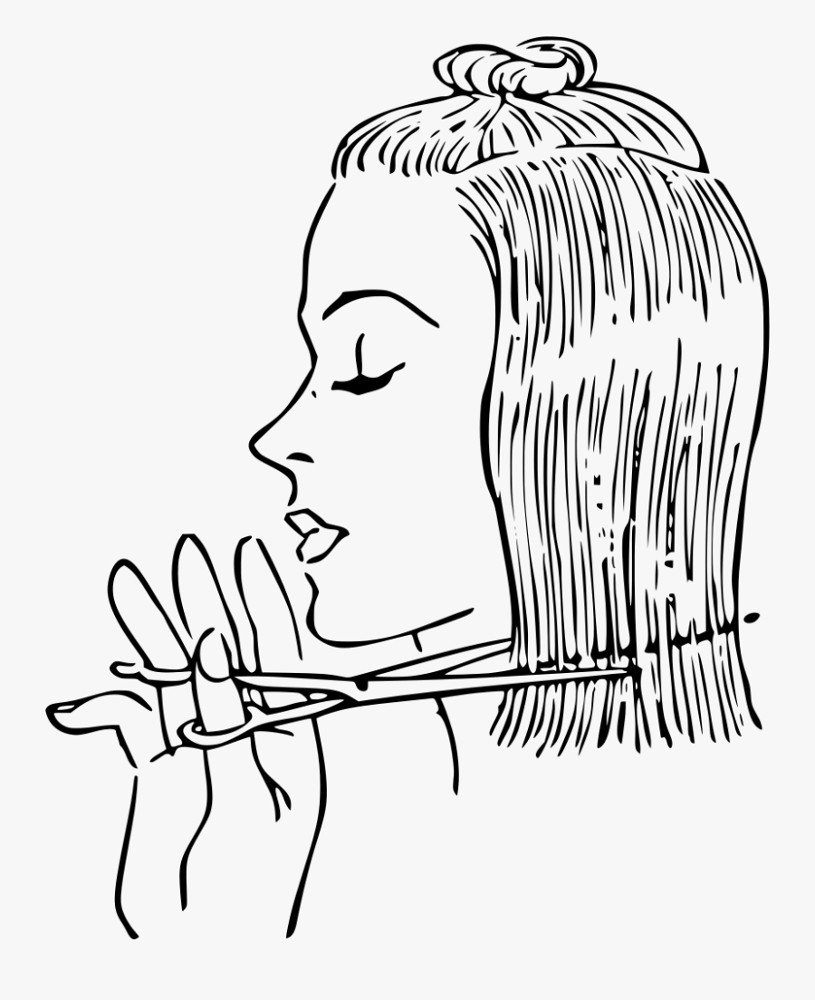 Download Barb Clipart - Cut Hair Clipart Black And White, Transparent Clipart