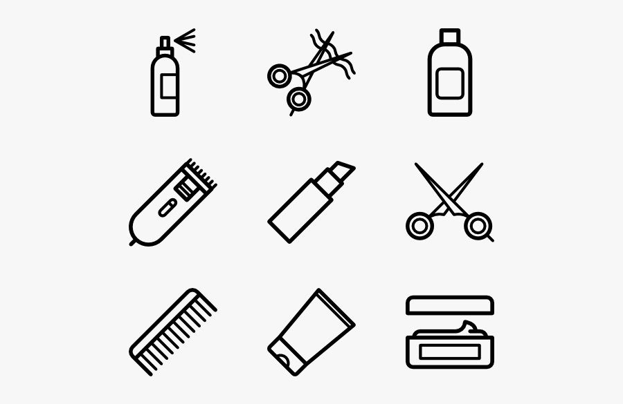 Hairdressing - Hair Salon Icons Png, Transparent Clipart