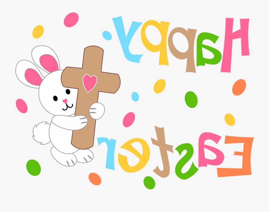 Happy Easter Bunny, Easter Cross, Cross Flag, Jesus - Happy Easter Bunny And Cross, Transparent Clipart