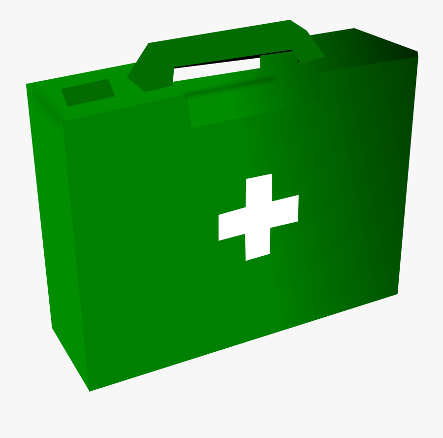 Green First Aid Kit Clipart, Transparent Clipart