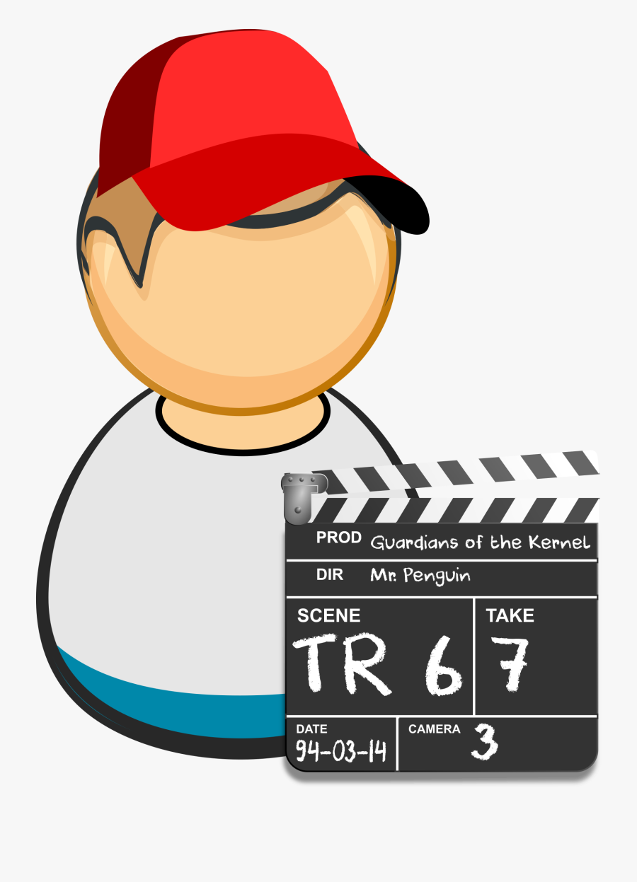 Clapper Board Clipart - First Responder Icon, Transparent Clipart