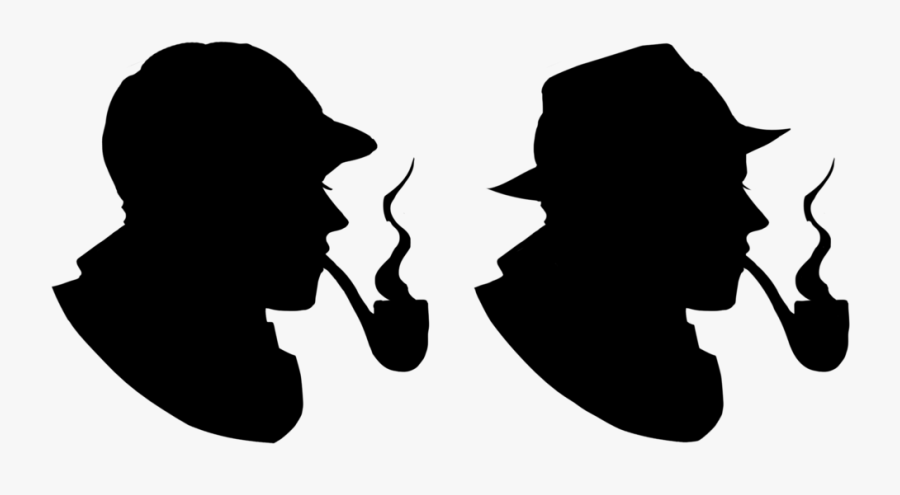 Sherlock Holmes Silhouette Mystery Crafts Clipart Library - Silhouette Royalty Free, Transparent Clipart