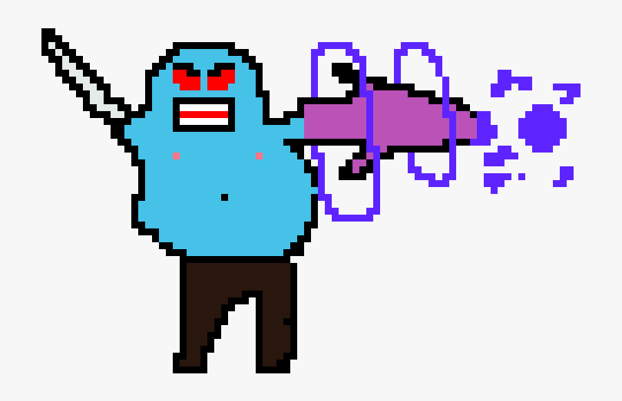The Angry Fat Man - Pixel Art Fat Man, Transparent Clipart