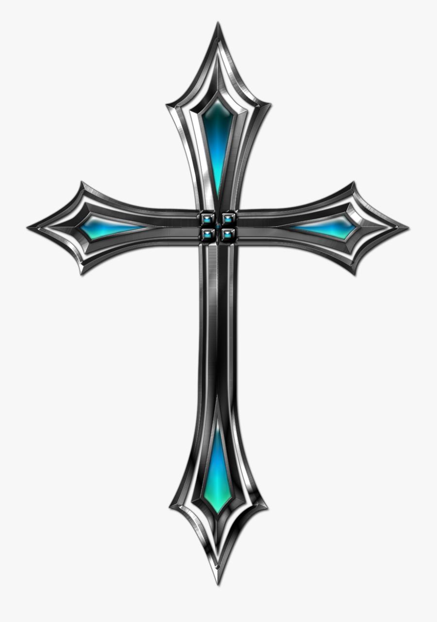 Cool Christian Crosses - Silver Cross Transparent Background, Transparent Clipart