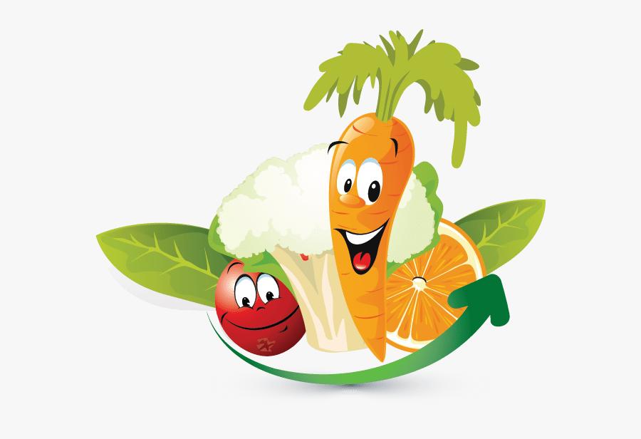 Design Free Logo Fruits Vegetables Online Template - Animated Fruits And Vegetables, Transparent Clipart