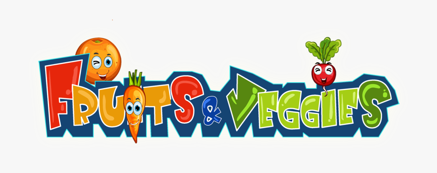 Clip Art Fruits And Vegetables Cartoon - Fruits And Vegetables Logo, Transparent Clipart