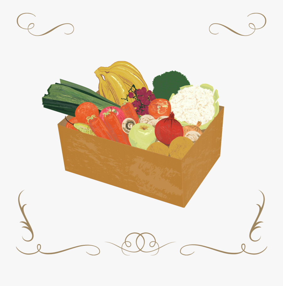 Clip Art Vegetable Boxes, Transparent Clipart