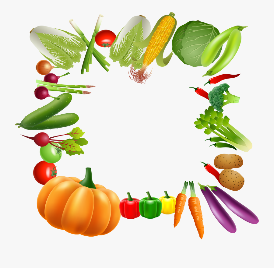 Vegetable Vegetarian Cuisine Fruit Clip Art - Fruits And Vegetables Png, Transparent Clipart