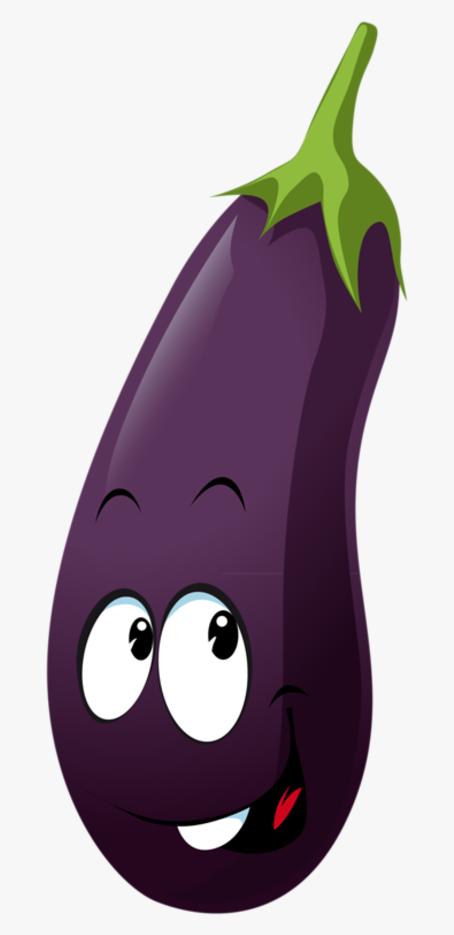 Eggplant Clipart Objects - Fruits And Vegetables Individual, Transparent Clipart