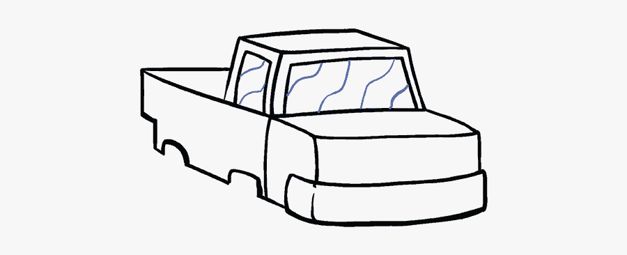 How To Draw A Monster Truck In A Few Easy Steps Easy - Easy Monster Truck Drawing, Transparent Clipart
