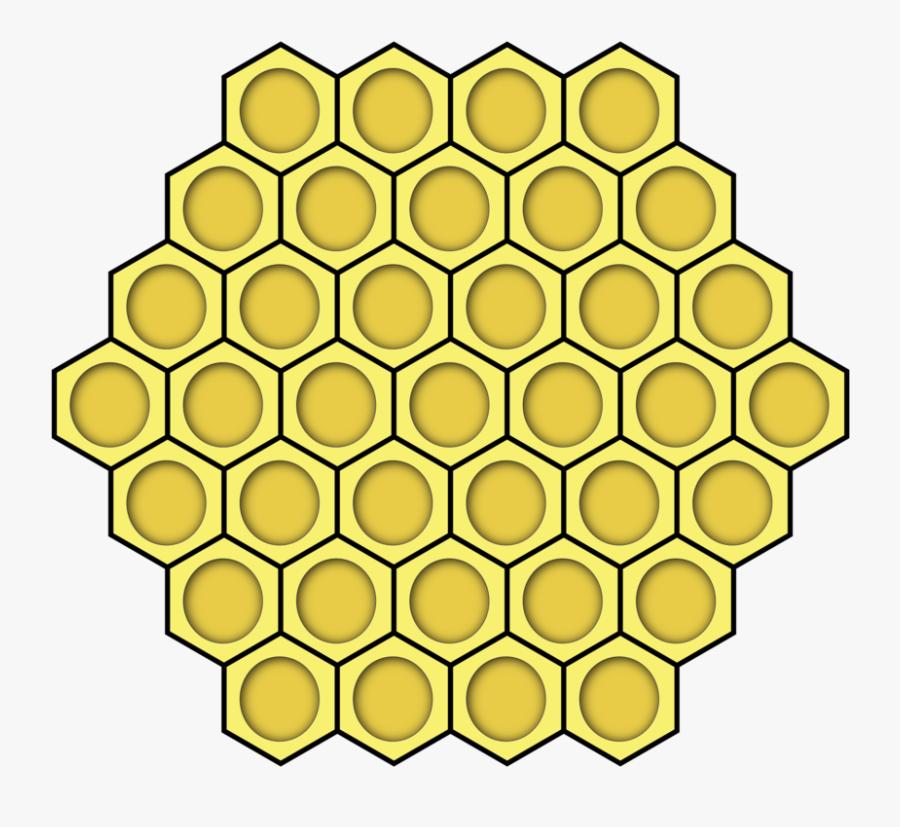 Honeycomb, Honey, Honey Bees, Comb, Yellow, Hexagon - Clip Art Hexagon Bee Hive, Transparent Clipart