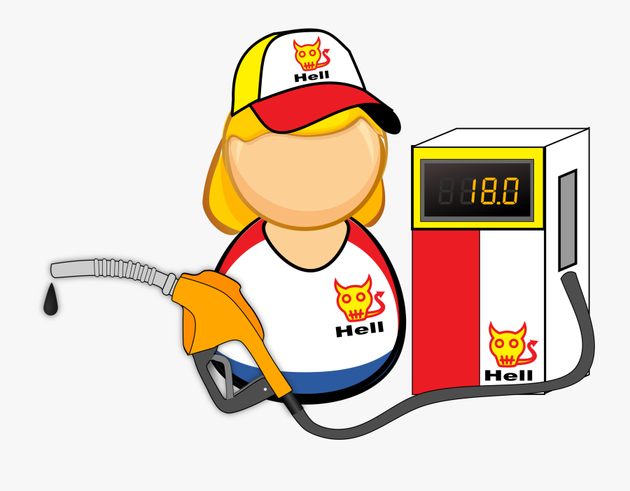 Clip Art Clipart Gas Station - Gas Station Worker Png, Transparent Clipart