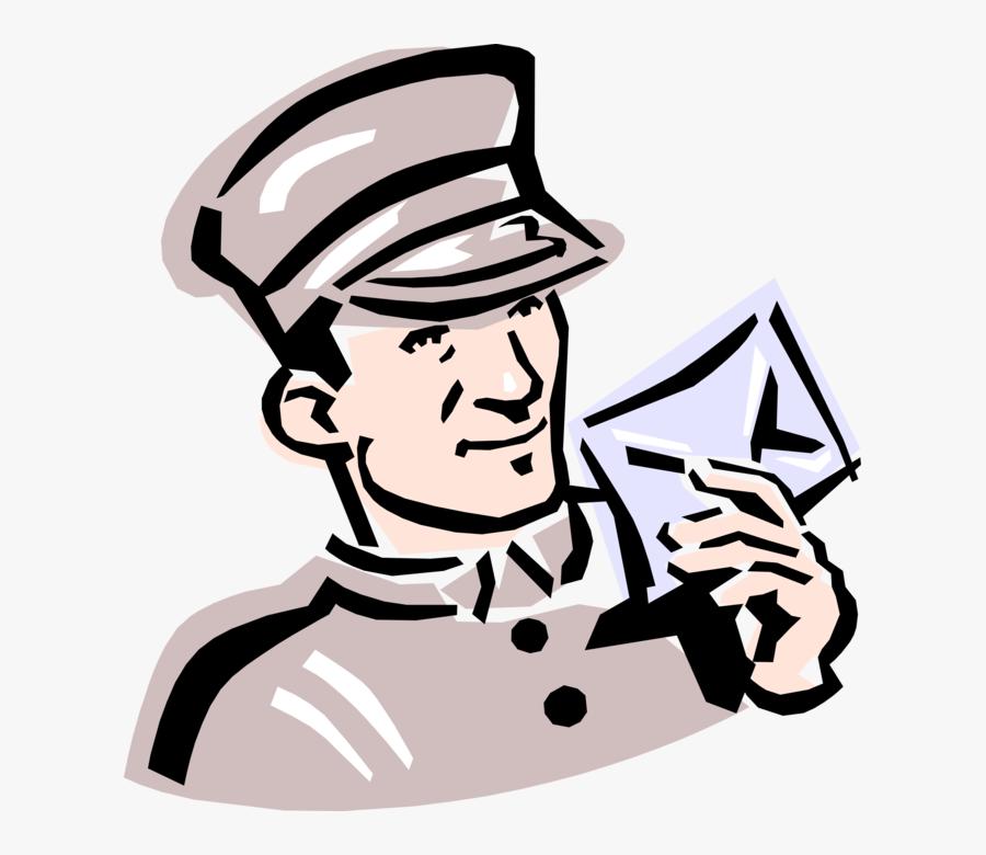 "Vector Illustration Of 1950""s Vintage Style Post Office - Telegram Clipart, Transparent Clipart"