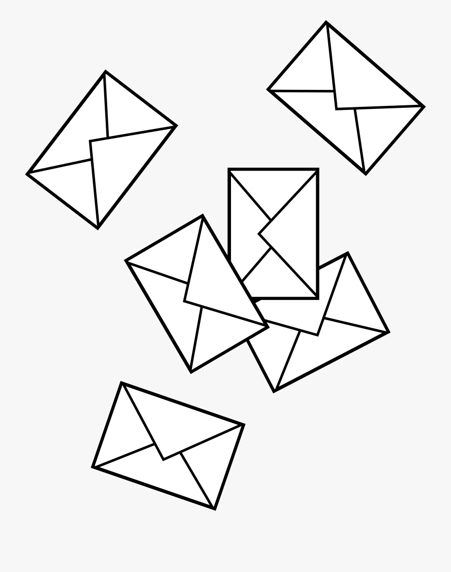 Post Office Clipart - Cartoon Pile Of Letters, Transparent Clipart