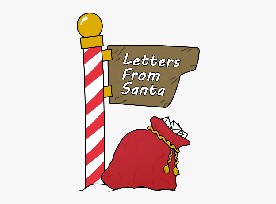 Letters From Santa Graphic - Letter, Transparent Clipart