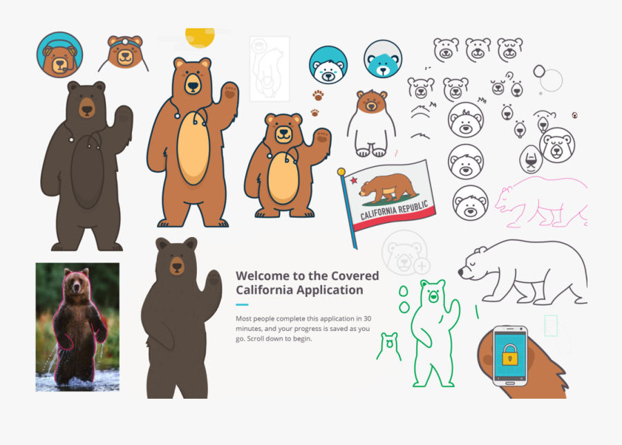 Transparent California Bear Clipart - Grizzly Bear Standing, Transparent Clipart