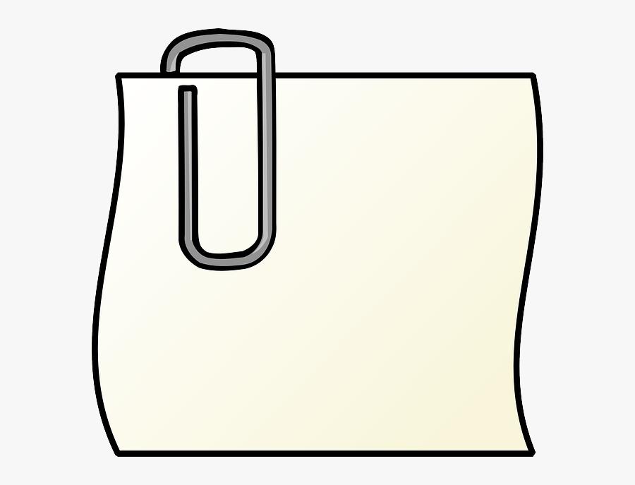 Paper, Paperclip, Office, Post, Memo, Notepad - Paper Clip Art, Transparent Clipart