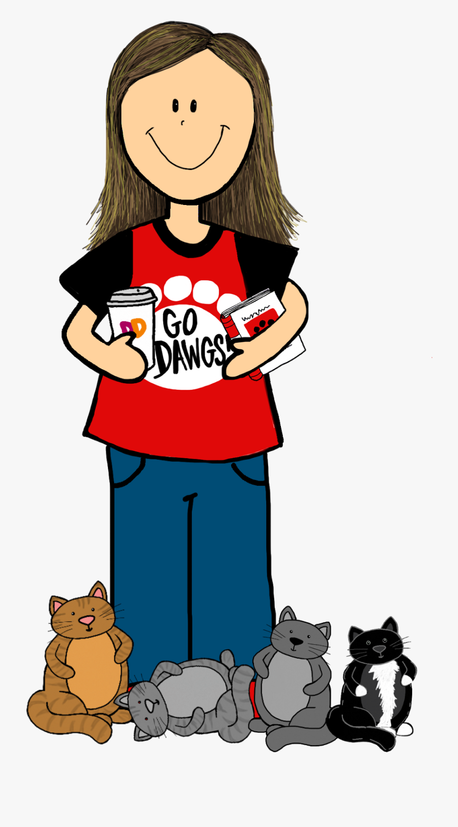 """It""""s Currently Five For Friday Time Third Grade Bookworm - Crazy Cat Lady Clipart, Transparent Clipart"""