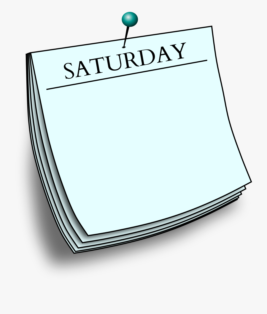 Office Clipart Post Office - Saturday Clipart Png, Transparent Clipart