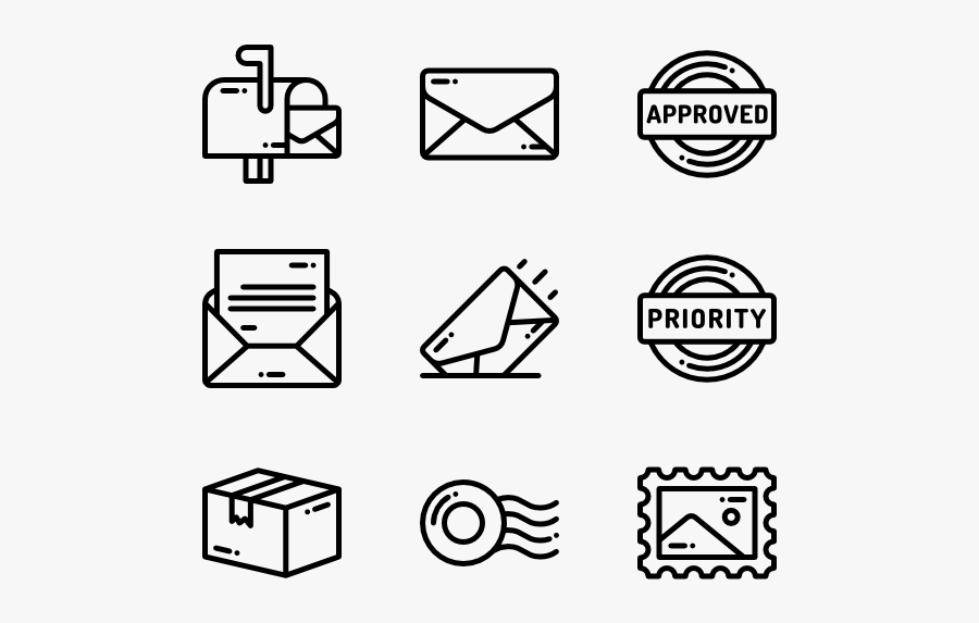 Post Office Mail Icons - Drums Icons, Transparent Clipart