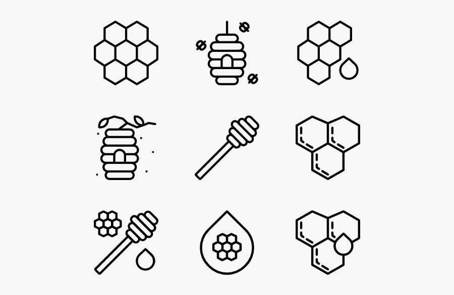 Collection Of Free Honeycomb Vector Bee Hive - Graphic Design Icon Vector, Transparent Clipart