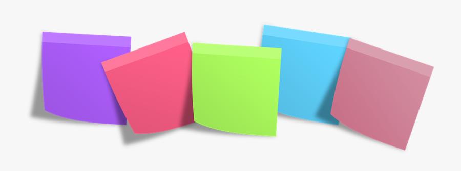 Postit, Memo, Post It, Notes, Memory - Post It Notes Transparent Background, Transparent Clipart