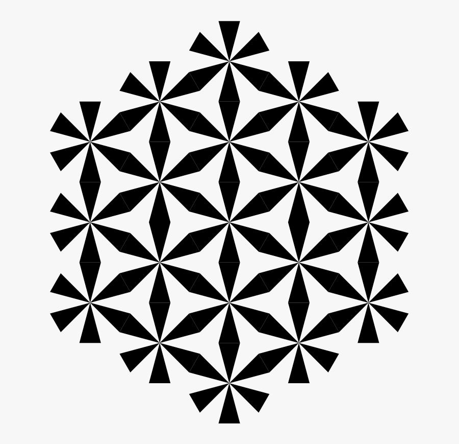 Transparent Zebra Clip Art - Hexagon Vector Honeycomb Geometric Mandala Pattern, Transparent Clipart