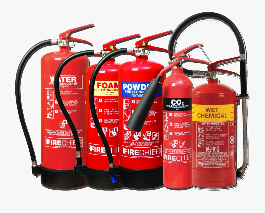 Fire Png Extinguisher - Types Of Fire Extinguishers Png, Transparent Clipart