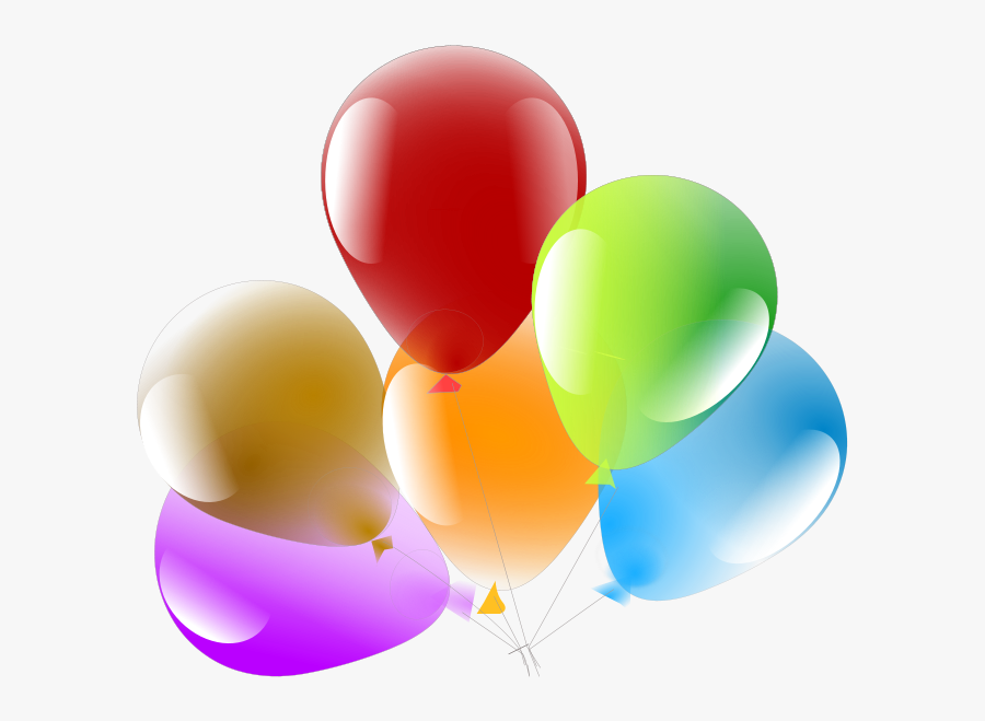 Balloons - Baloes De Aniversario Png, Transparent Clipart