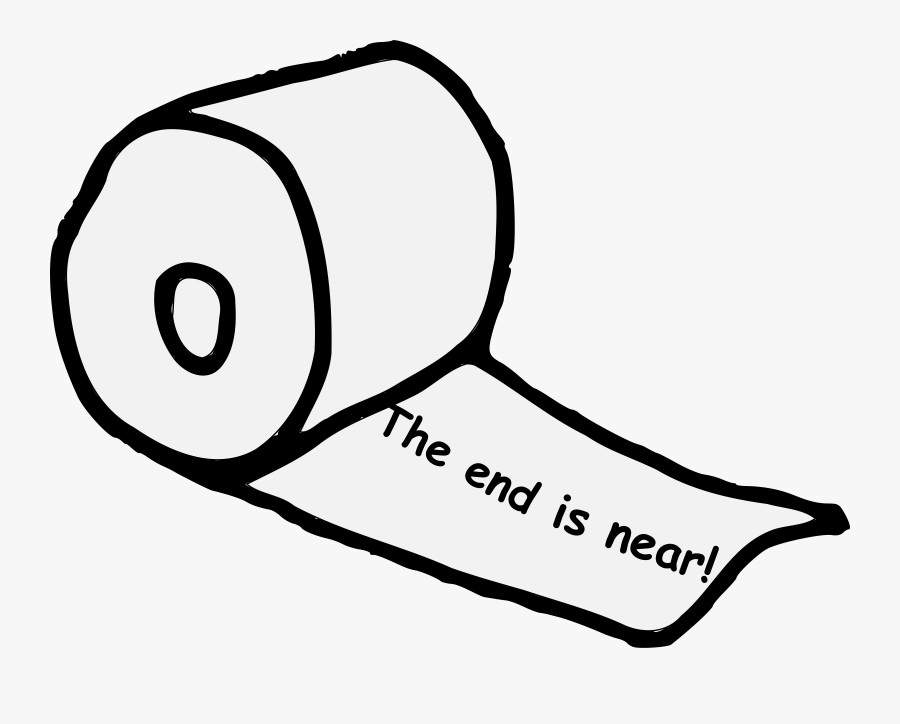 End Is Near Toilet Paper Clipart , Png Download - End Is Near Toilet Paper Roll, Transparent Clipart