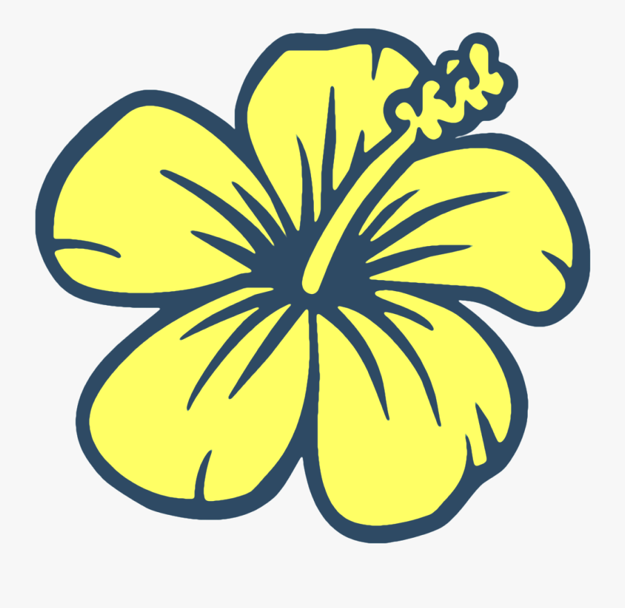 Hawaiian Flowers Drawing Easy Clipart , Png Download - Flowers Drawing, Transparent Clipart