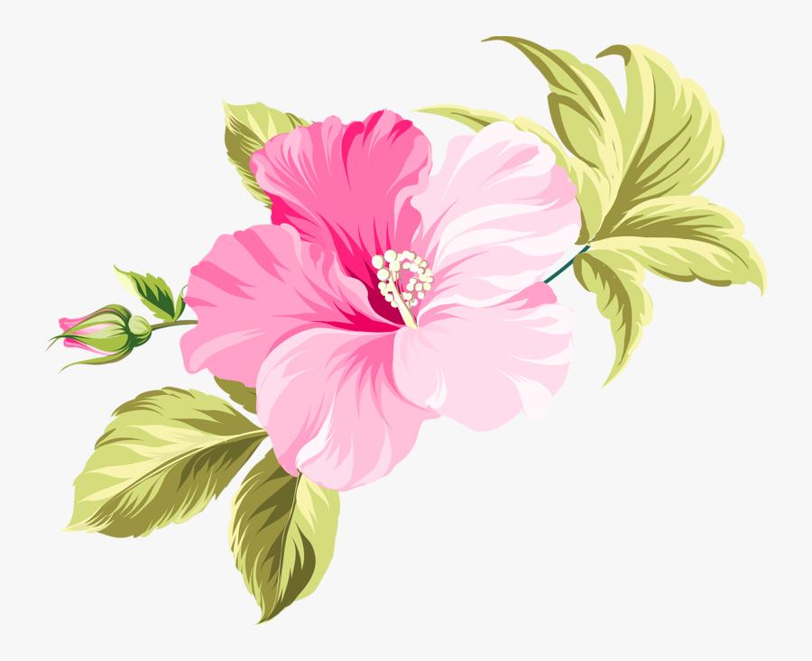 Flower Hawaii Clip Art - Pink Beautiful Flower Vector, Transparent Clipart
