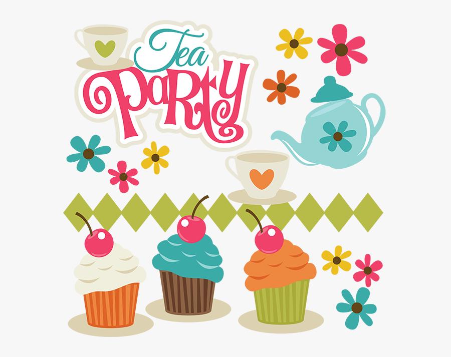 Tea Party Party Clip Art, Transparent Clipart