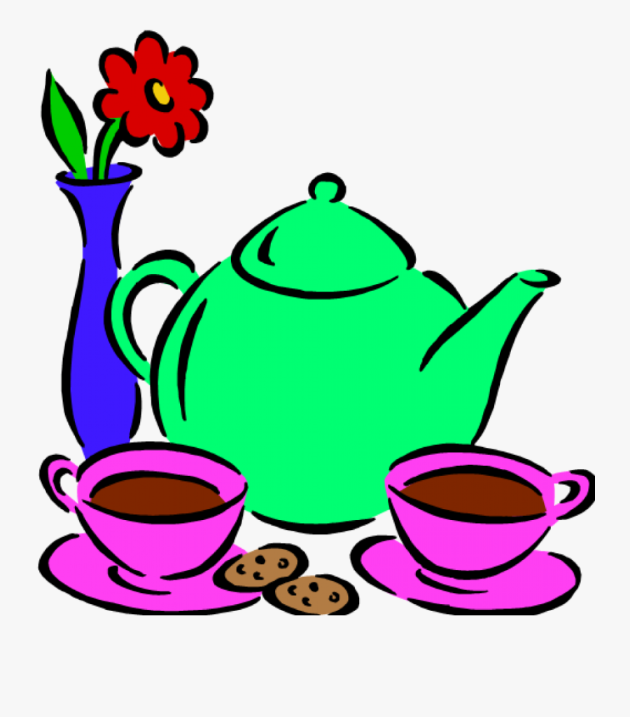 Transparent Tea Party Png - Clip Art Morning Tea, Transparent Clipart
