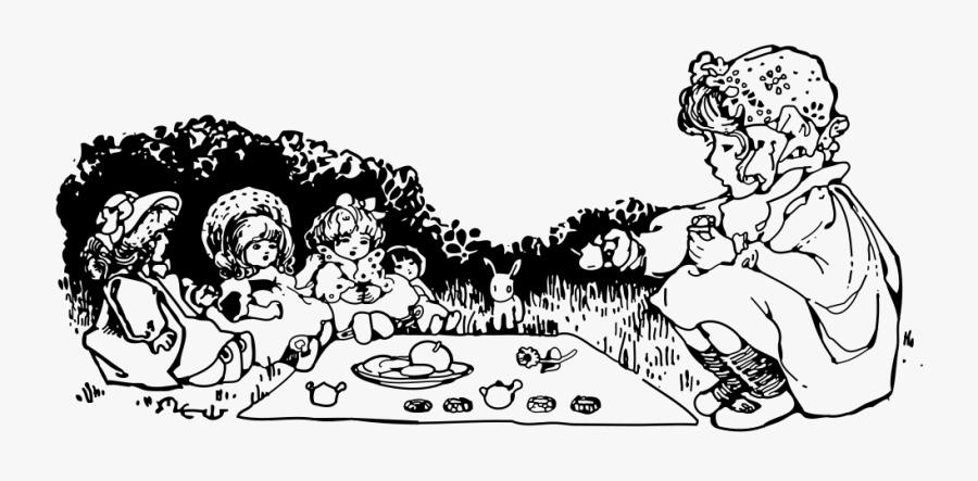 Doll Tea Party - Tea Party Doll Clip Art, Transparent Clipart